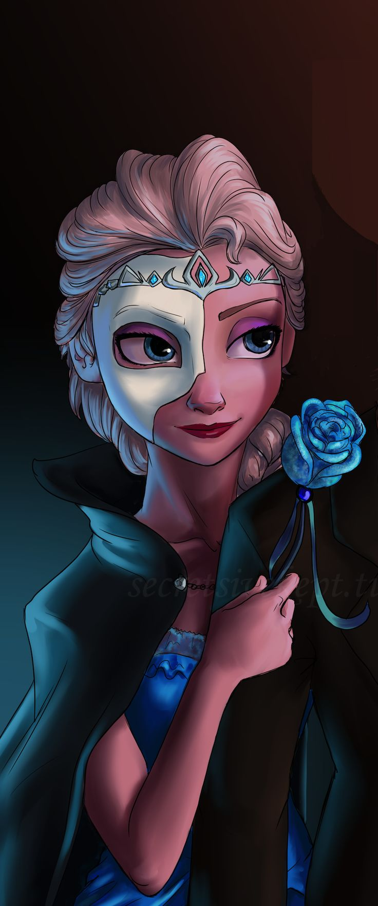 If Elsa were at a Masquerade ball
