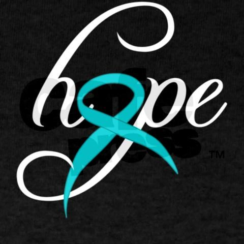 The teal ribbon is an international symbol of ovarian cancer awareness. Show your support !