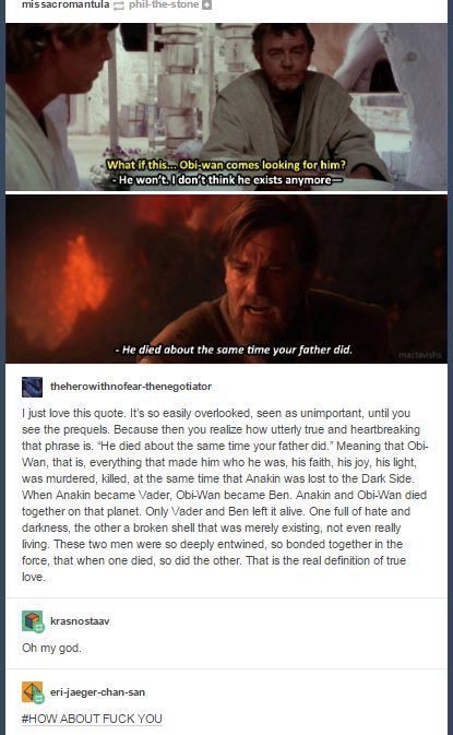 Anakin and Obi-Wan <<<< it's ok, i didn't need my heart anyway
