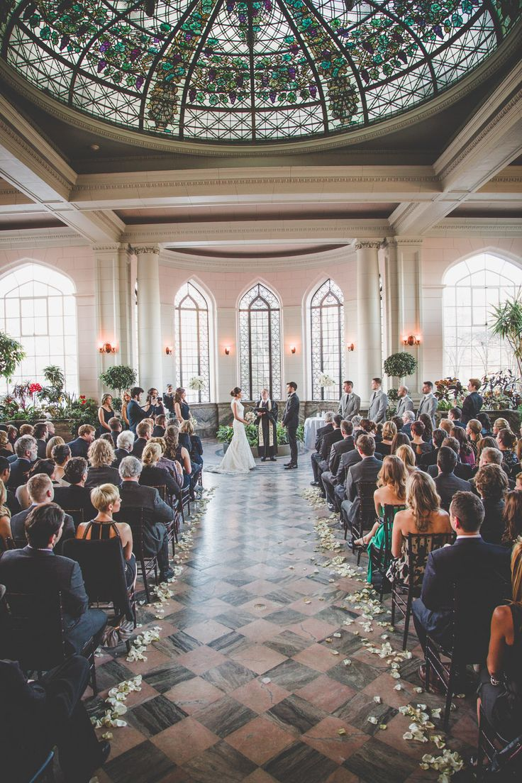 Their Ceremony; The Conservatory - Casa Loma http://www.fusion-events.ca/