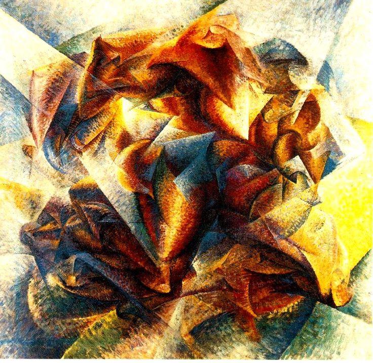 "Umberto Boccioni ""Dinamismo di un calciatore"" - 1913 olio su tela, 193.2 x 201 cm (Museum of Modern Art, New York)"