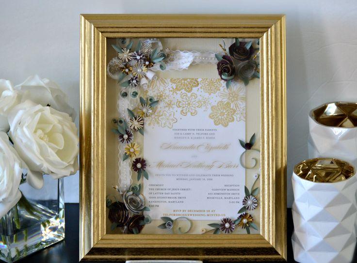 Custom Wedding Invitation Framed Wedding by ALLINVITATIONSFRAMED