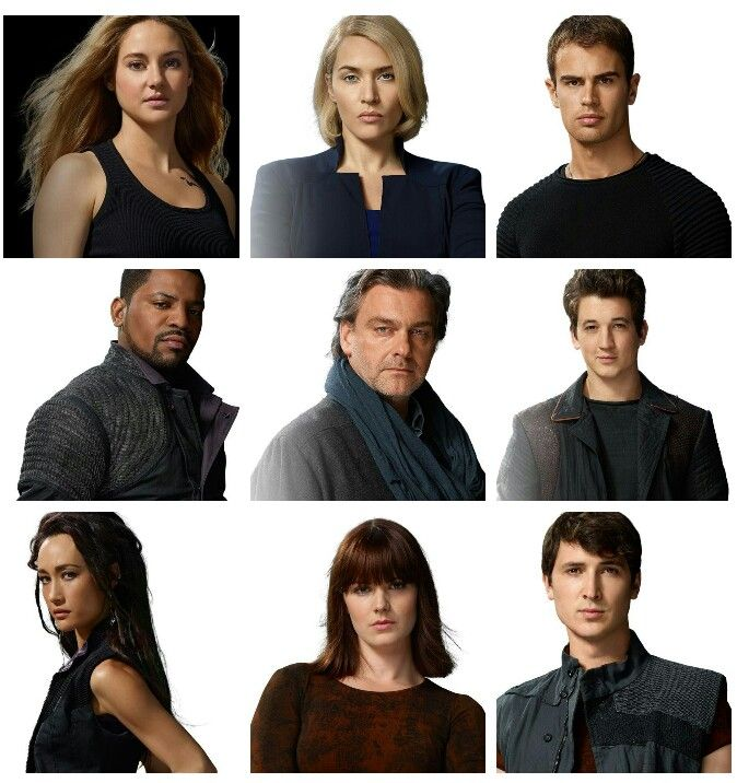 Tris, Jeanine, Four, Max, Marcus, Peter, Tori, Molly, Will ...  Tris, Jeanine, ...
