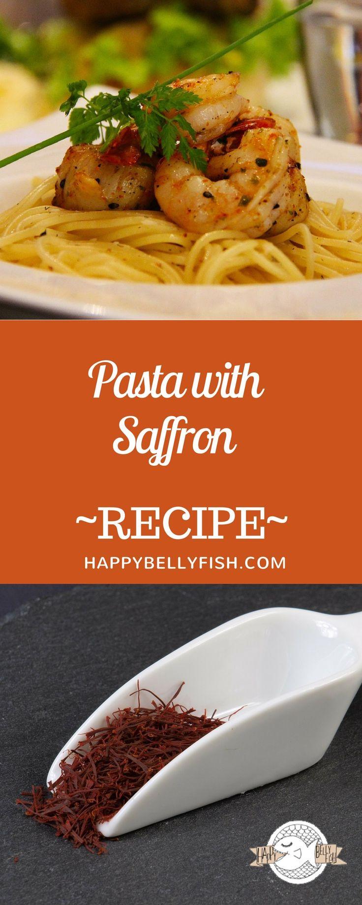 Pasta with Saffron and Shrimps Easy Recipe: https://happybellyfish.com/recipes/pasta-with-saffron/  Паста с шафраном и креветками - рецепт: https://happybellyfish.com/ru/recipes/pasta-with-saffron/
