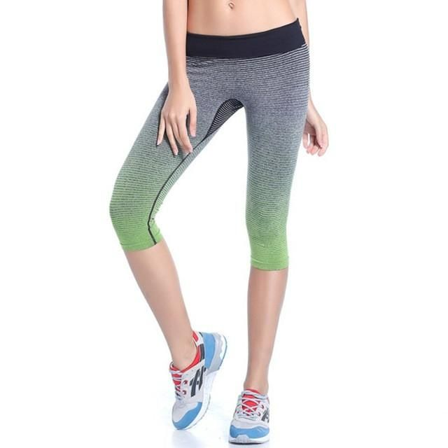 Lowest Price! Women Leggings Summer Capri Pants Fitness Clothes Elastic