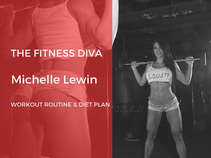 Michelle Lewin Workout Routine and Diet Plan. The Fitness Diva Michelle Lewin shares her secrets of perfect and toned body- The Workout Magazine.