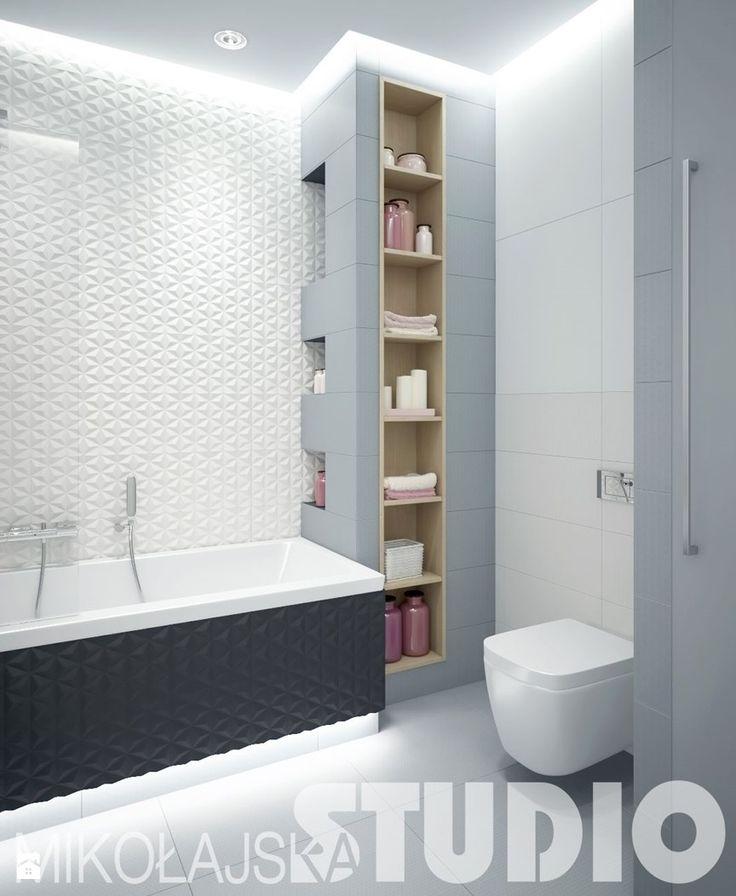 łazienka w różu i szarości - zdjęcie od MIKOŁAJSKAstudio - Łazienka - Styl Art- deco - MIKOŁAJSKAstudio