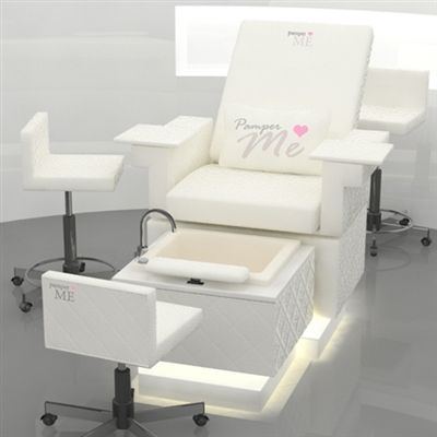 This state-of-the-art, luxury multi-service beauty chair experience provides endless options for maximizing profits and services while offering your guests a pampering escape with a luxurious hydrotherapy foot bath with Pipe-less technology.