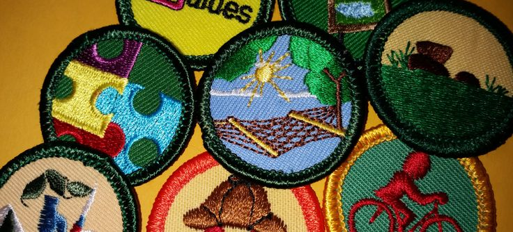 Find requirements for retired Girl Scout junior and cadette badges, brownie tryits and cadette amd senior (interest project) patches.