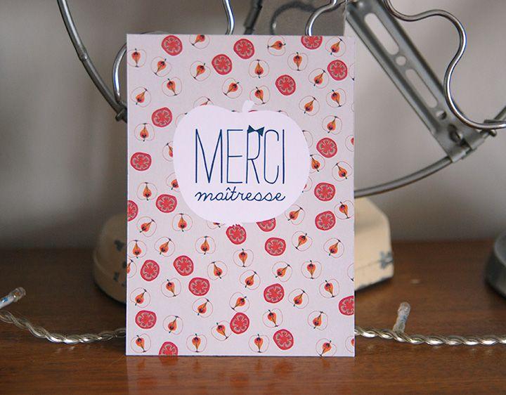 MERCI MAÎTRESSE / free printable