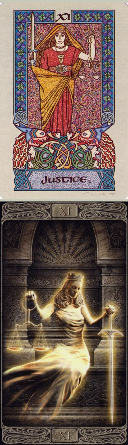 JUSTICE: karmic retribution and unfair (reverse). Celtic Tarot deck and Ghost Tarot deck: tarot card of the day, tarot deck vs free online tarot cards. Best 2018 divination witch and tarot meanings major arcana. #hermit #tarot #spells #spellwork #tattoo
