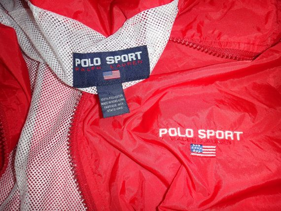 Vintage Polo Sport Ralph Lauren Windbreaker by TwistedFabrics
