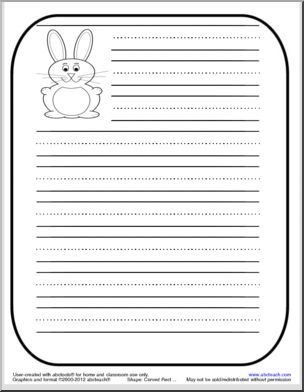 Cute writing paper with primary lines. Repinned by SOS Inc. Resources. Follow all our boards at http://pinterest.com/sostherapy for therapy resources.