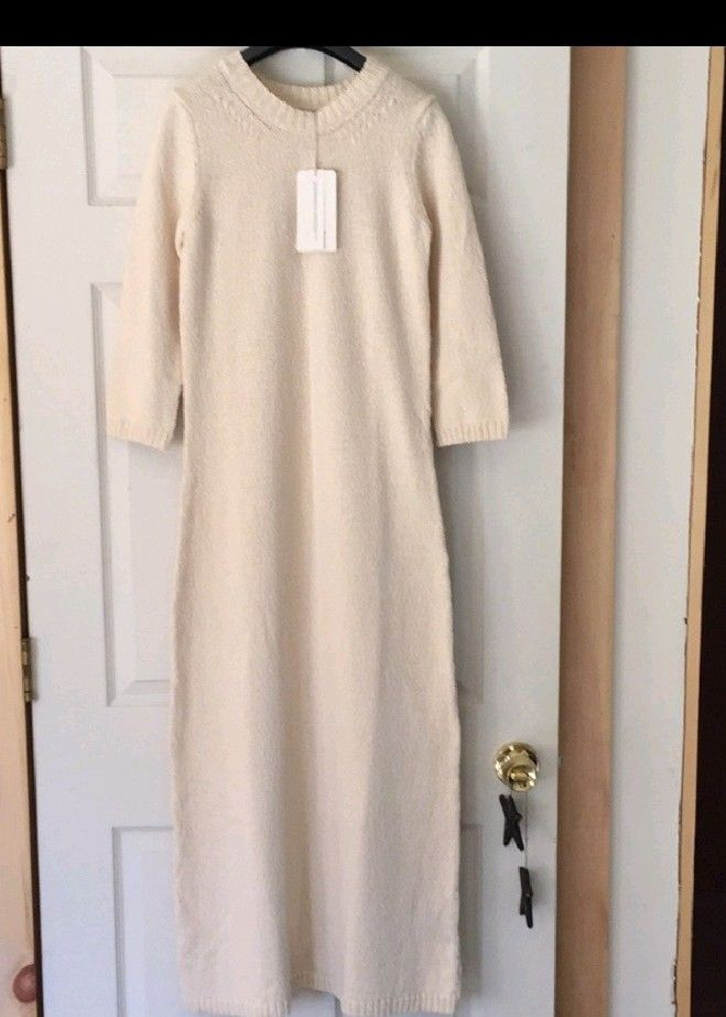 a515b6fa955 Brand New With Tags Zara Knit Cream Long Sweater Dress Size Medium  fashion   clothing  shoes  accessories  womensclothing  sweaters  ad (ebay link)