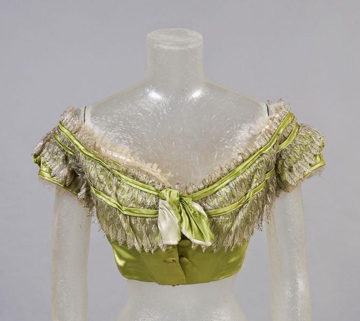 In the Swan's Shadow: Woman's ballgown bodice, 1860s  Civil War Era Dress
