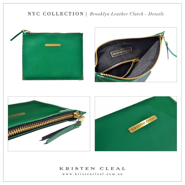 Brooklyn Leather Clutch Details by Kristen Cleal Designs  Shop our online store at www.kristencleal.com.au