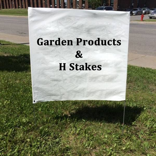 H Stake Work Well With Ridges Sign In The Ground Corrugated Plastic Signs Stakes Yard Signs
