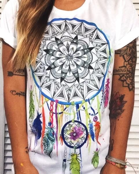 Life changing hand drawn art by the infamous Emily Deechaleune! This Hi-Def Print design is made with high-quality, 100% spun polyester that delivers the look and feel of organic cotton without ever c
