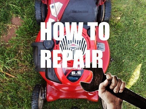 HOW TO Repair or Fix a Lawn Mower by Cleaning Out the Carburetor -Briggs & Stratton or Tecumseh - YouTube