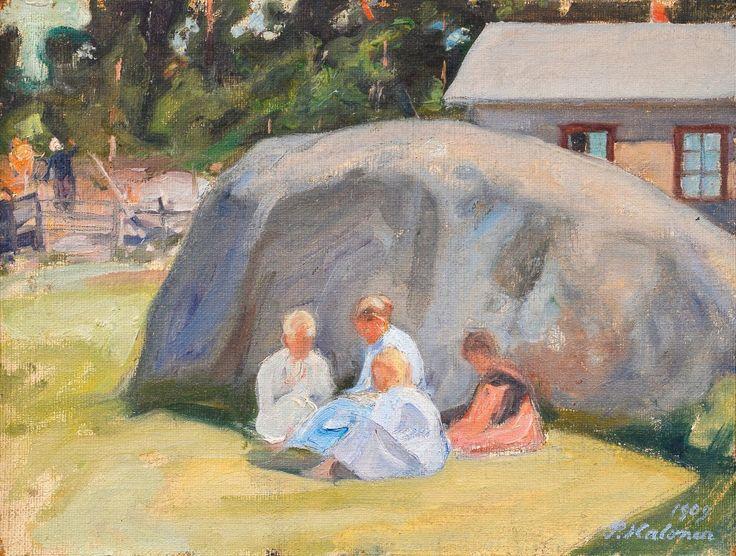 Pekka Halonen, PIHALLA LEIKKIVIÄ LAPSIA, 1909, The Life and Art of Pekka Halonen - http://www.alternativefinland.com/art-pekka-halonen/