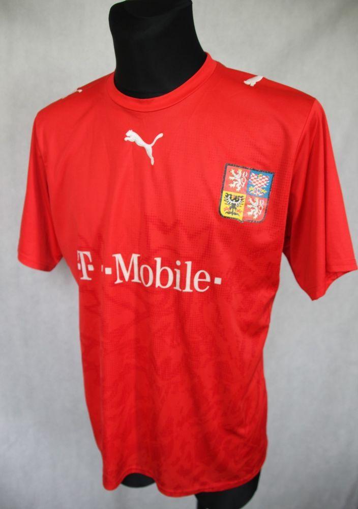 ad5e40270e0 Puma Czech Republic 2006   2008 Home Football Shirt Jersey sz L Large  Puma
