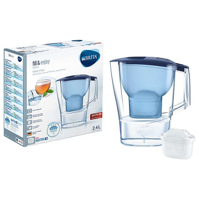 BuyBrita Maxtra+ Aluna Water Filter Jug, Cool Blue, 2.4L Online at johnlewis.com