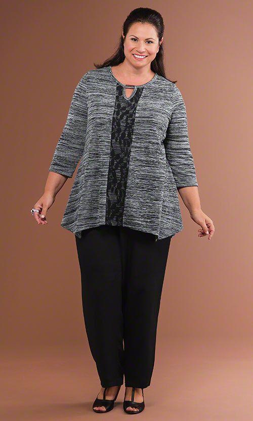 Vortex Top & Venus Pants / MiB Plus Size Fashion for Women / Fall Fashion http://www.makingitbig.com/product/4965