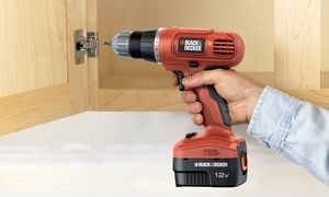 Groupon - Black and Decker 12V Cordless Drill for £27.98 With Free Delivery (54% Off). Groupon deal price: £27.98