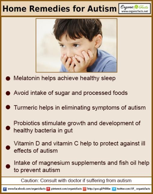 Some of the most effective home remedies for autism include the use of fish oil, magnesium, melatonin, probiotics, antibacterial and anti-parasitic substances, dietary changes, vitamin D, turmeric, and detox baths.