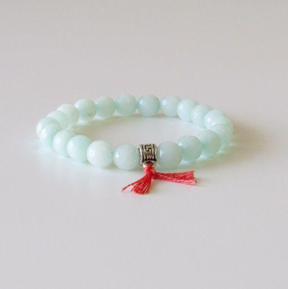 Bohemian Bracelet  Amazonite Wrist Mala Yoga Bracelet by BBTresors