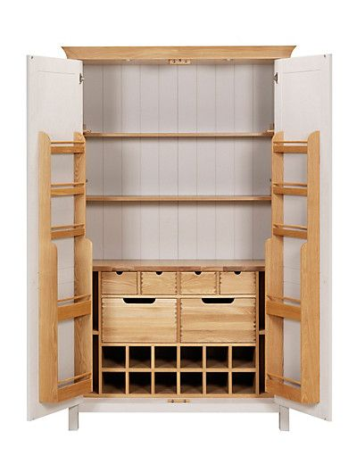 Padstow 2 Door Larder Unit Putty Cas I Love And Standing Pantry