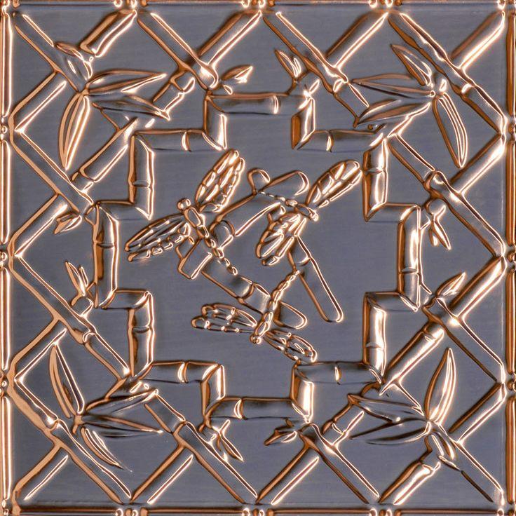 decorative ceiling tiles inc dragonflies copper ceiling tile 24