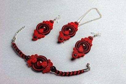Crimson Tide - soutache set