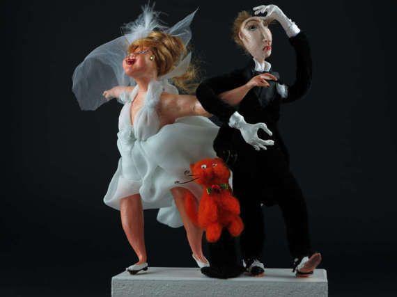 Art doll The groom and bride/ жених и невеста от IdeeSottotetto
