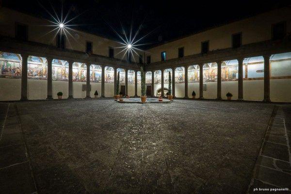 Illuminazione del Chiostro della SS. Trinità in Viterbo (Italy) by Claudia Giacomobello and Giovanni Liotta | Light as a support to architecture in this project awarded by a Special Mention at Codega 2015 Ceremony | http://ledlab.it #codega2015 #ledlab #ill215 #lighting #design #international #contest