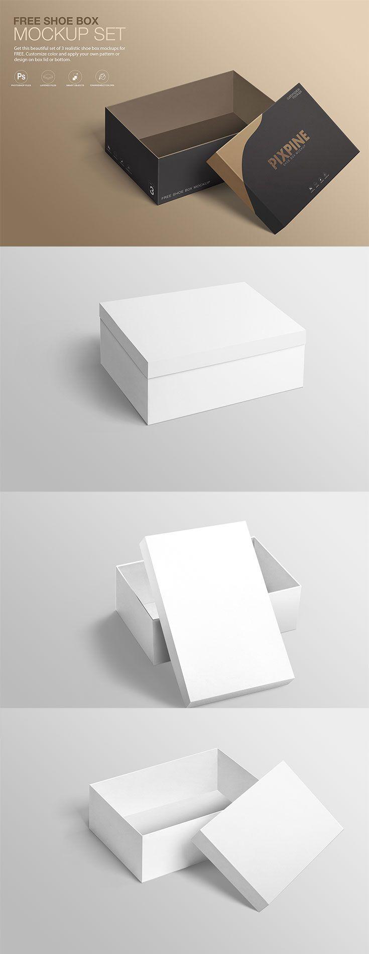 Download Free Shoe Box Mockup Set Shoe Box Design Logo Design Mockup Box Mockup