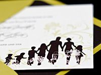 Second wedding invitations can be difficult to find. Our line of couture, customizable wedding invitations were created with you and your blended family in mind. Include your kids for a wonderful keepsake!