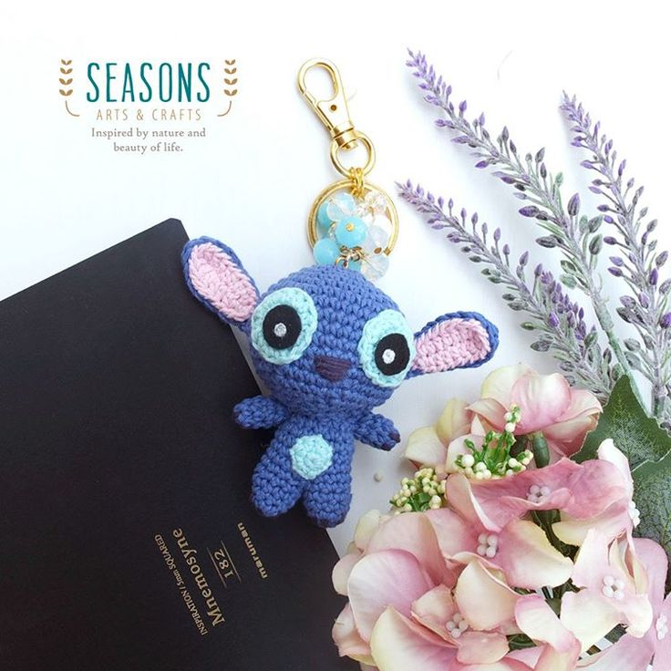 Now it's time for #Stitch #Disney to show up 😚  This lovely creature #amigurumipattern is made by #duchessgala, come to visit her blogspot.  #handmade #amigurumi #keychain #custommade #crochet #madewithlove #cuteamigurumi #cuteplush #cuteplushies #handmadebagcharm #jualbagcharm #jualkeychain #custombagcharm #bagcharmjakarta