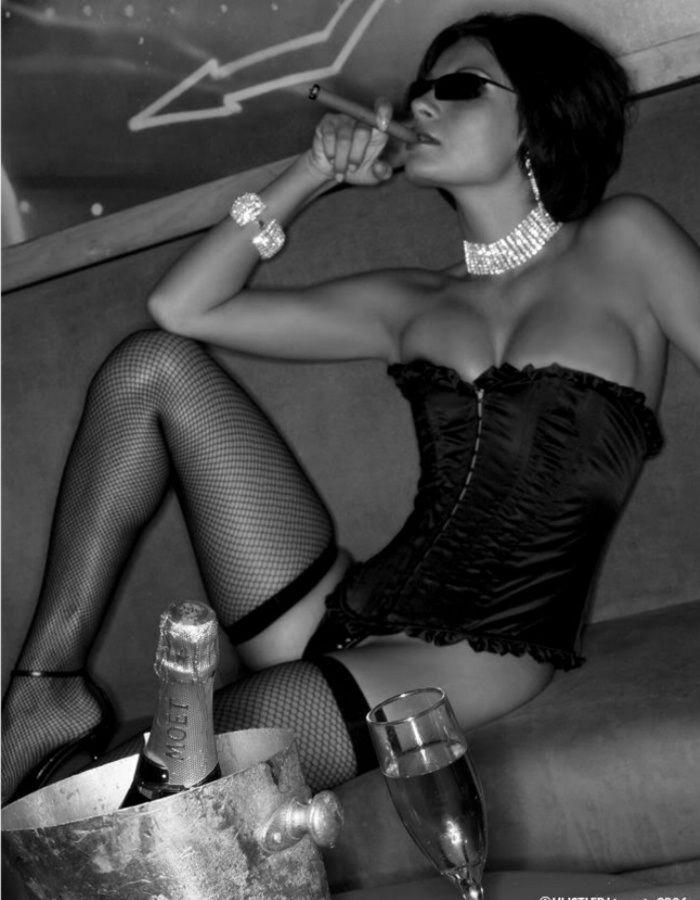 Sexy women smoking and having sex