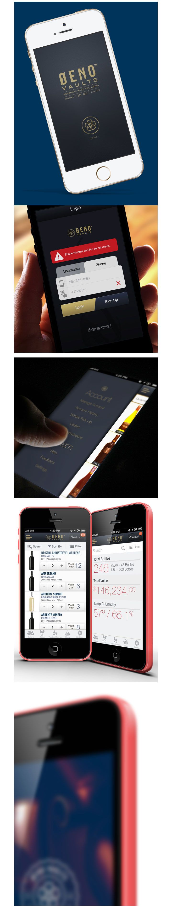 Oeno Vaults App |  #appdesign #interface #design
