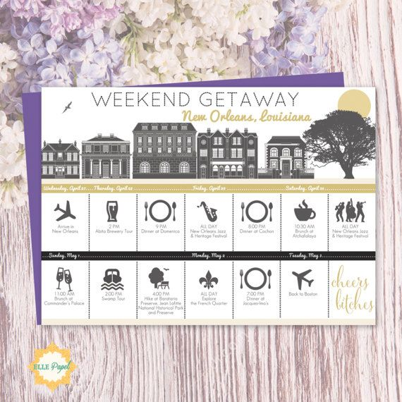 New Orleans bachelorette party itinerary