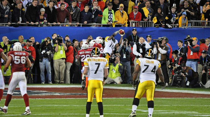 Big Ben and Willie Colon watch as Santonio Holmes makes the game winning catch in Super Bowl XLIII to give the Steelers their sixth Super Bowl title over the Arizona Cardinals 2/1/09
