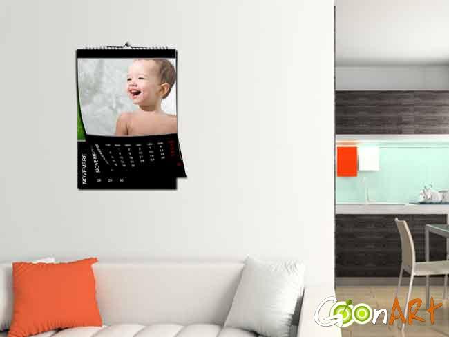 Vivi un anno da protagonista con i calendari con foto di Goonart.it! 12 mesi da personalizzare con i tuoi ricordi più belli!  In formato A4 e A3!