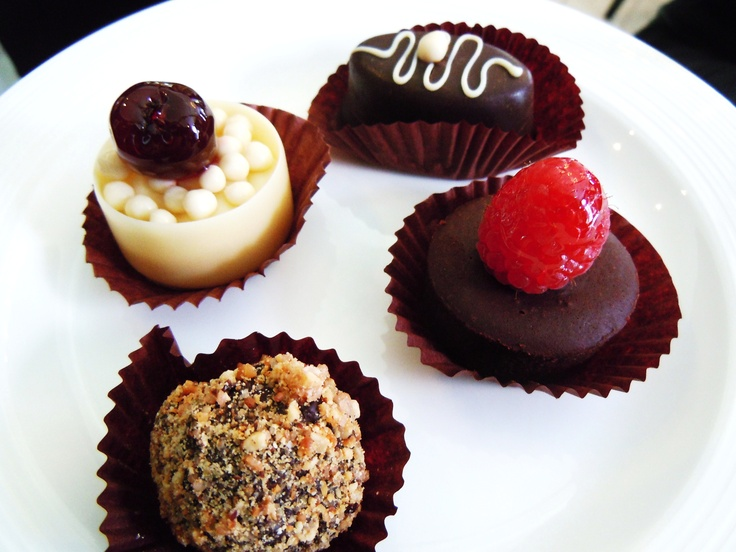 Chocolate Tea petit fours from Windsor Arms Hotel in Toronto.