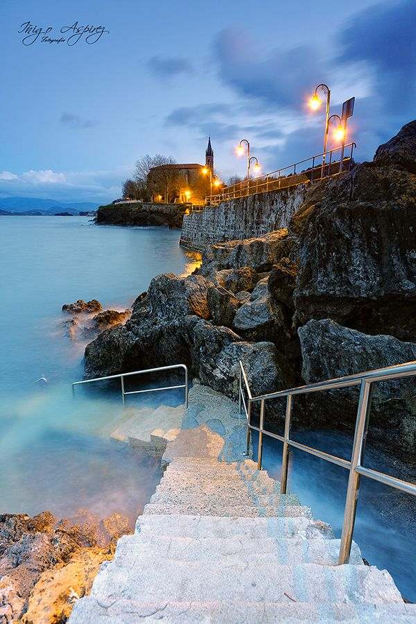 Stairs to the sea. Mundaka, Spain