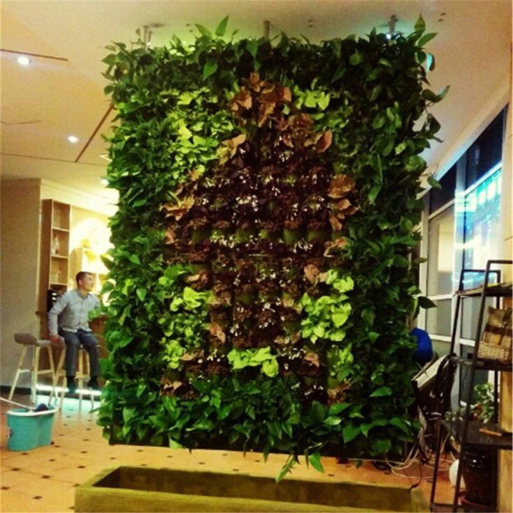 18/32 Pocket Vertical Indoor Outdoor Hang Wall Balcony Herb Garden Planter Bag