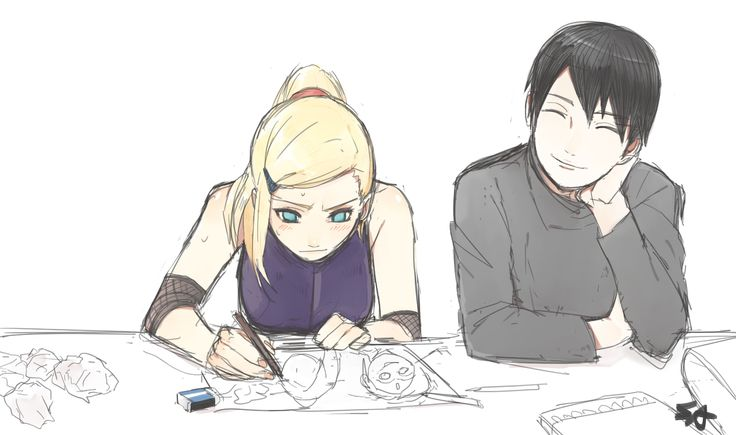 That moment where your boyfriend is an arstist and your drawing looks worse than a 10-year-old's... Cute Ino and Sai