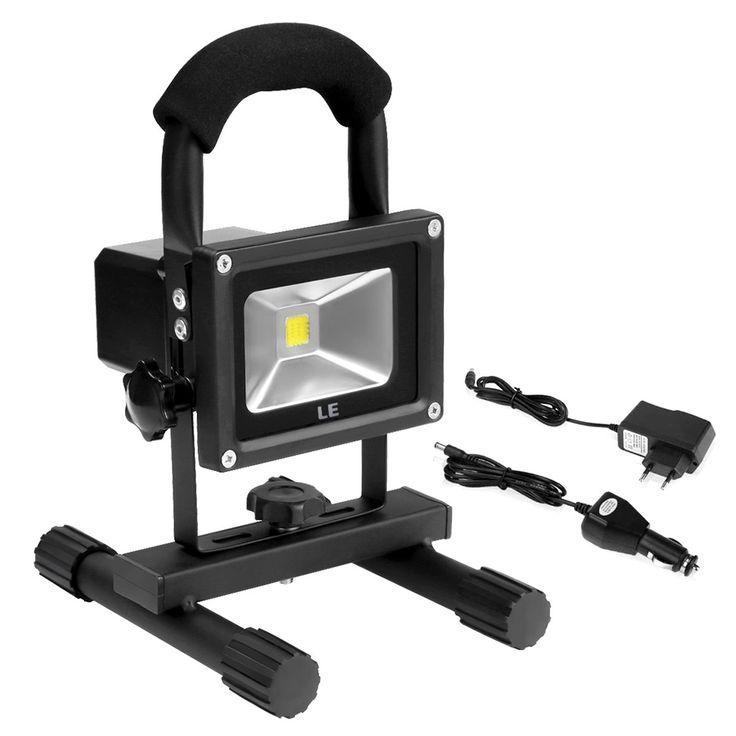 10W LED Baustrahler mit Akku, Tragbar Arbeitsleuchte, 700lm, Wasserdicht