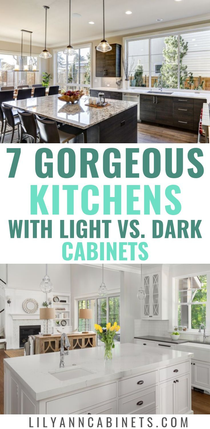Dark Vs Light Kitchen Cabinets Which Is Right For You Light Kitchen Cabinets Dark Kitchen Kitchen Cabinets Decor