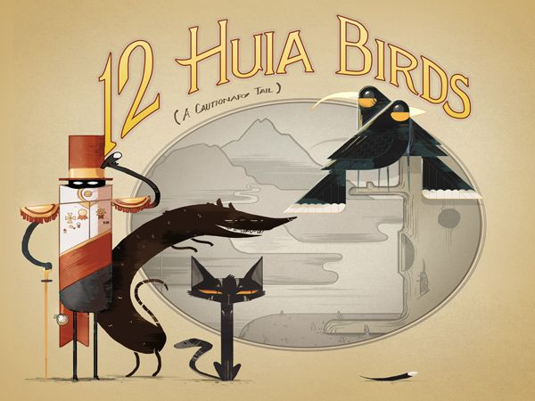 Welcome to The Making of a Book App, a blog that follows the production of 12 Huia Birds, an interactive picture book and activity app that tells the story of New Zealand's vanished huia bird.The  app is part illustrated and animated tale about the life of the huia,  part interactive fact-sheet that virtually brings the huia to life  through video, sounds and activities. It was funded in 2014 by NZOnAir's  Digital Media Fund.